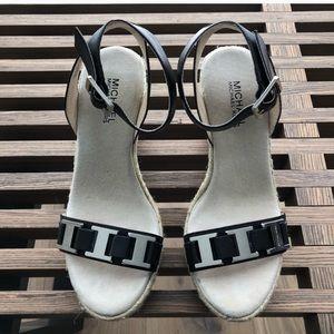 🆕 MK Leather Wedge sandals